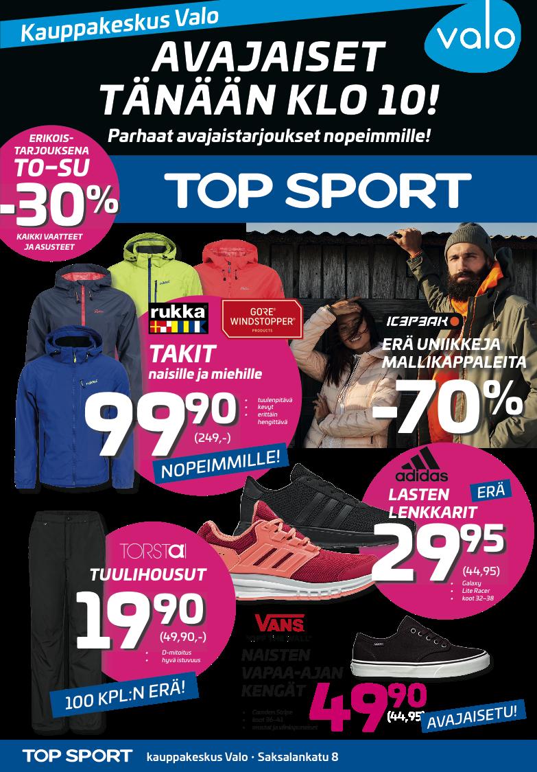 Top Sport - Alennuskoodit, Kupongit & Tarjoukset